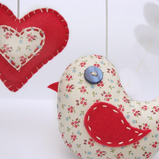 Hearts + love birds :: ...because i love...