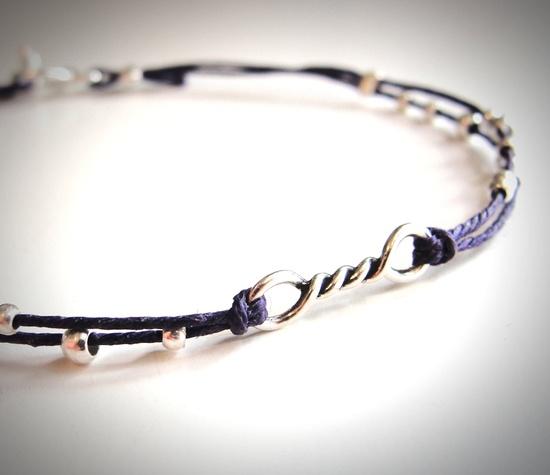 Tiny Twist Sterling bracelet by JewelryByMaeBee on Etsy. $22.00, via Etsy.