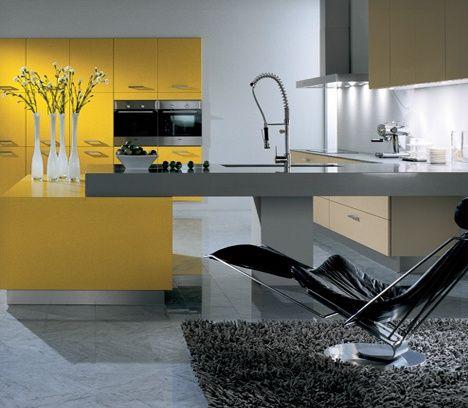 Yellow Modern Kitchen Design