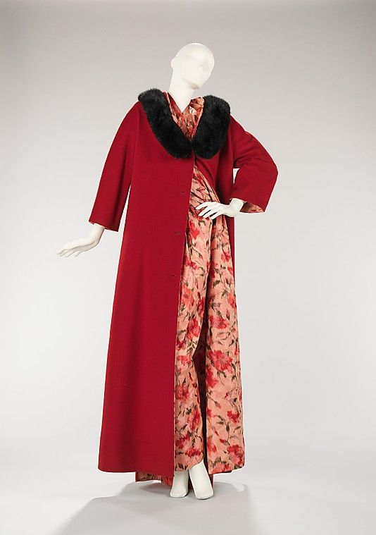 Vera Maxwell (American, 1903–1995). Evening ensemble, ca. 1957. The Metropolitan Museum of Art, New York. Brooklyn Museum Costume Collection at The Metropolitan Museum of Art, Gift of the Brooklyn Museum, 2009; Gift of Vera Maxwell, 1967 (2009.300.427a–d)