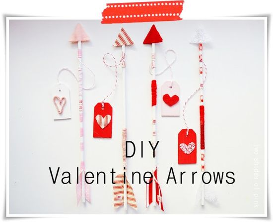 Two Shades of Pink: DIY Arrow Valentines