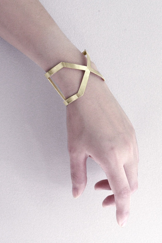 X Brass Cuff