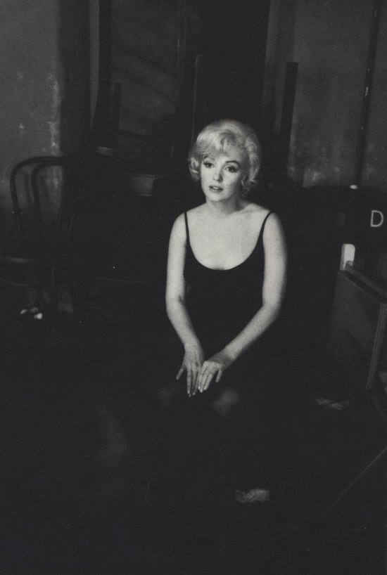 Marilyn Monroe on the set of Let's Make Love (1960). Photo: Bob Willoughby.