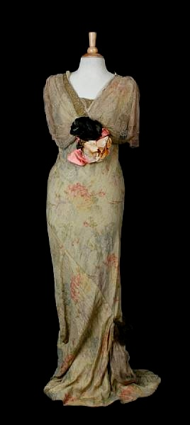 1930's Silk Chiffon Gown - Los Angeles County Museum of Art