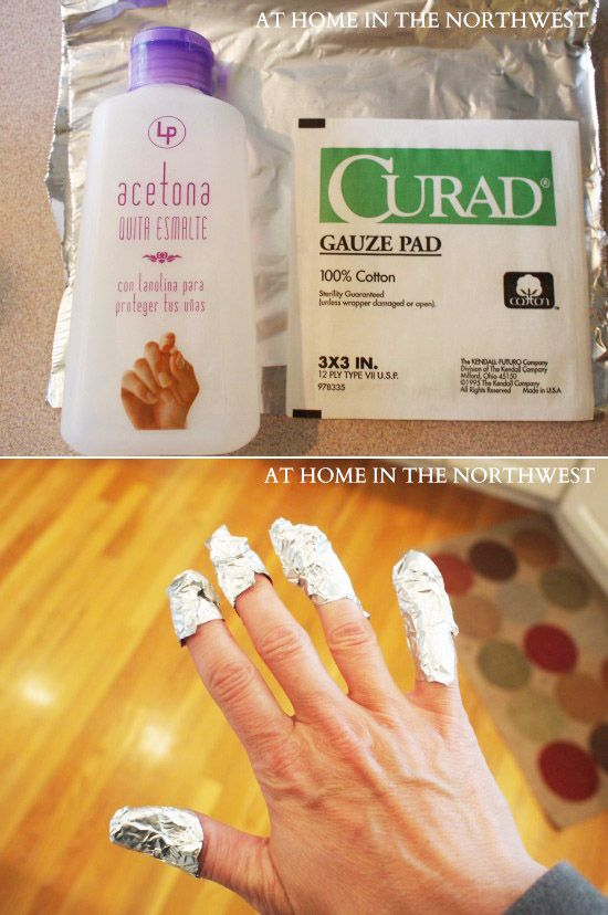 Here's how you remove a gel manicure at home:
