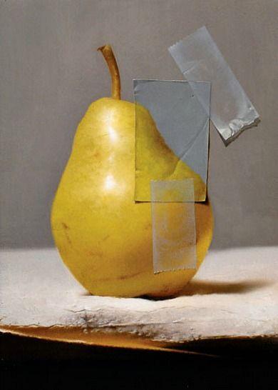 adam vinson, pear, oil on panel