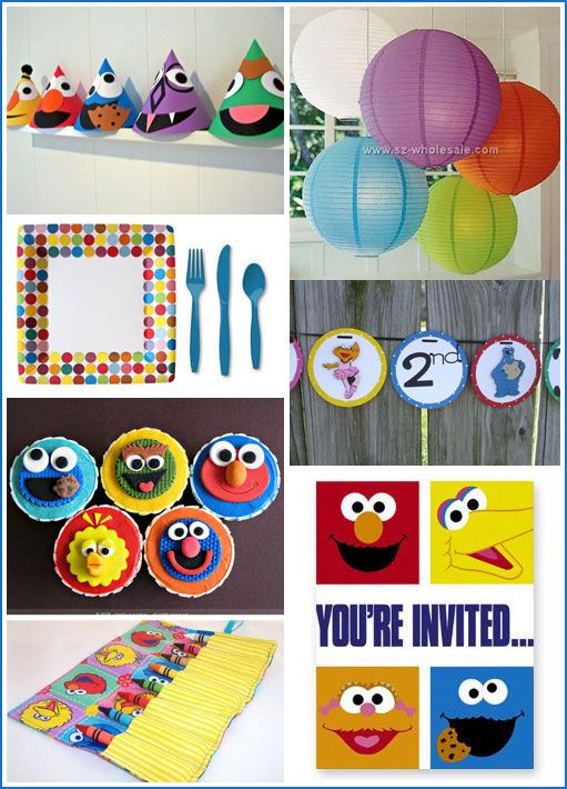 Sesame Street Party - Find more Sesame Street Birthday Party Ideas at www.birthdayinabo...