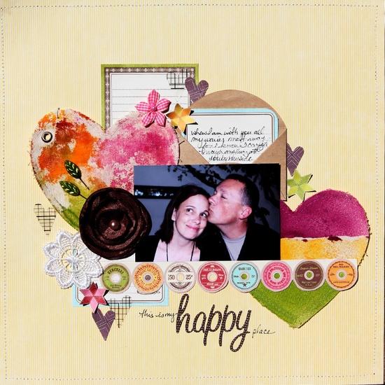 my Happy Place - Scrapbook.com #scrapbooking #layout