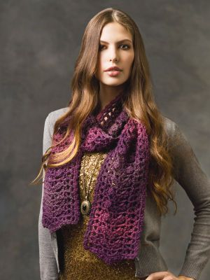 Sophisticated Crochet Scarf: free pattern