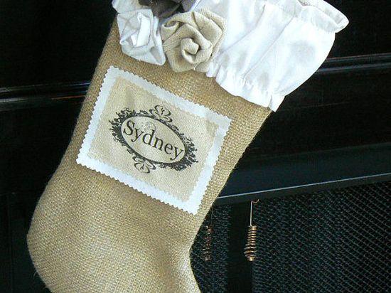 LOVE burlap stockings!