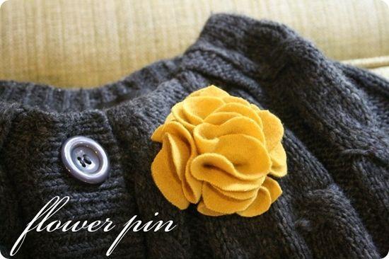 Flower pin DIY #DIY