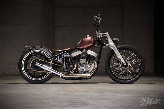 Blown '40 Harley Davidson Side-valve - 'Cojones'
