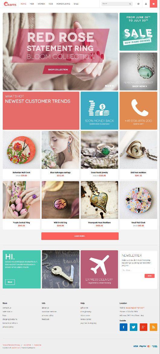 JM Crafts Magento Handmade Craft Store Theme