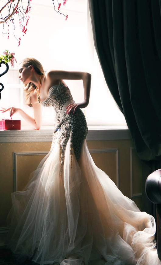 beaded gown / J'Aton
