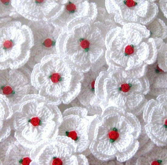 Sweet, pretty crochet flowers