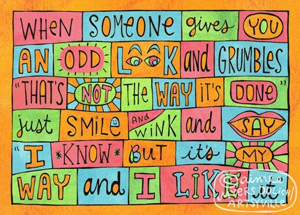 It's My Way and I Like It 8x10 doodle print by artsyville on Etsy, $16.00