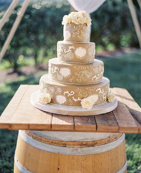 Idea for wedding cake setup