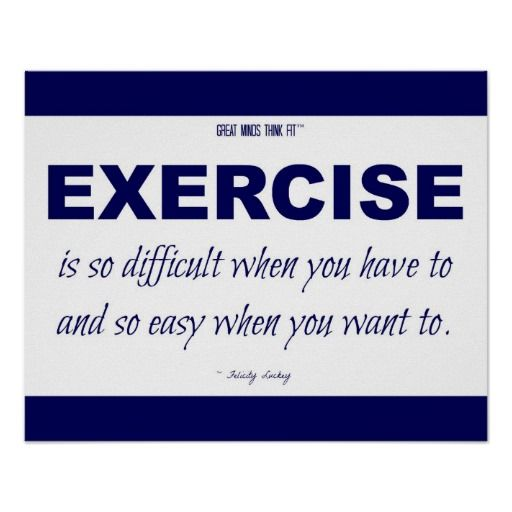 Blue and White Exercise Motivational Quote