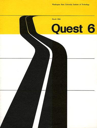 American Graphic Design by American Graphic Design    Designed by Irwin McFadden for a Washington State University conference on the roads of Washington state 1964. An early American example of the influence of New Graphic Design.