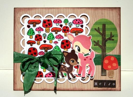 Hello Deer card *My Little Shoebox - Scrapbook.com