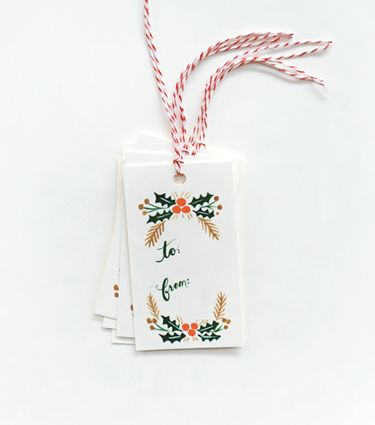 Love these holiday gift tags from Rifle Paper Co.