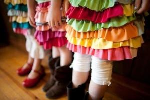 t shirt ruffled skirts