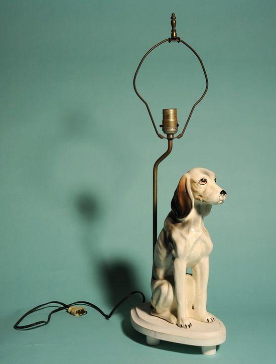 Vintage dog lamp.