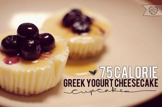Greek yogurt cheesecake minis
