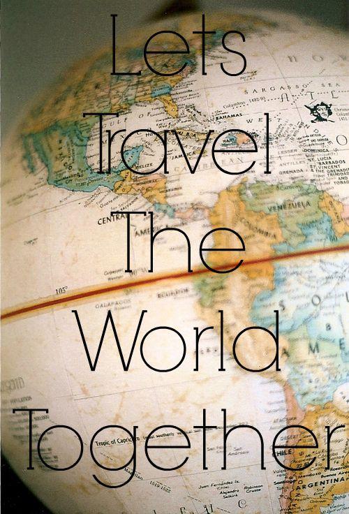 Lets Travel The World Together - World Globe Like us on Facebook! www.facebook.com/...