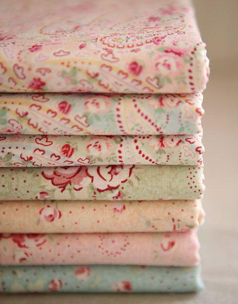floral & paisley vintage cotton eiderdown fabric