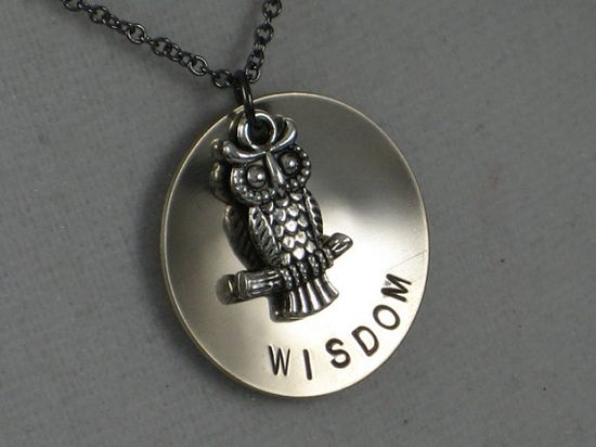 OWL WISDOM Necklace  Owl Jewelry  Wise Jewelry  by TheRunHome, $19.00