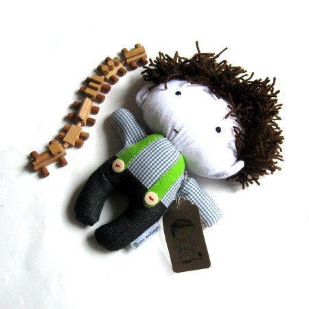 Rag doll toy stuffed puppet handmade plushie by meilingerzita, $42.00