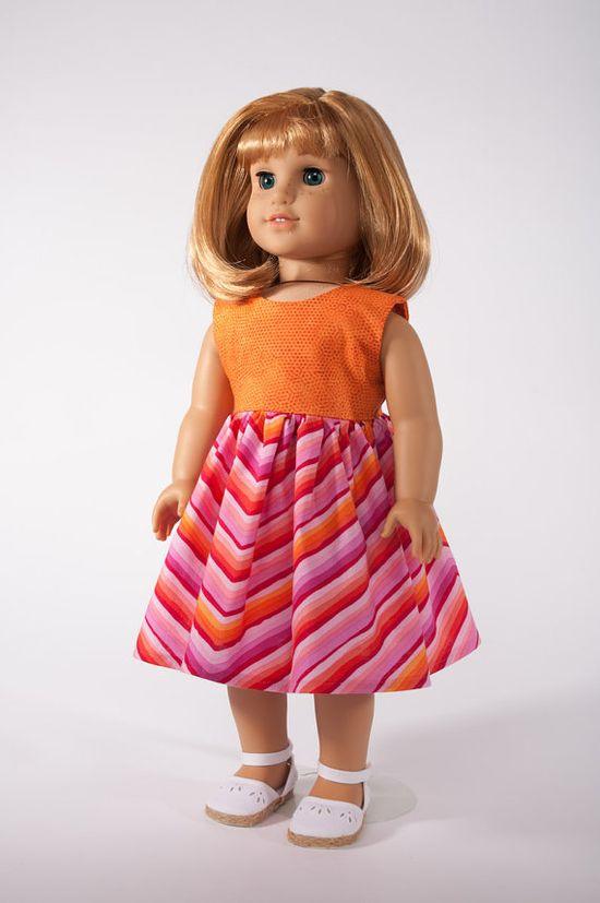 18 Inch American Girl Doll Clothes Retro Chevron by PattiKuz, $21.00