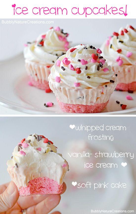 Ice Cream Cupcakes #cupcake #recipe