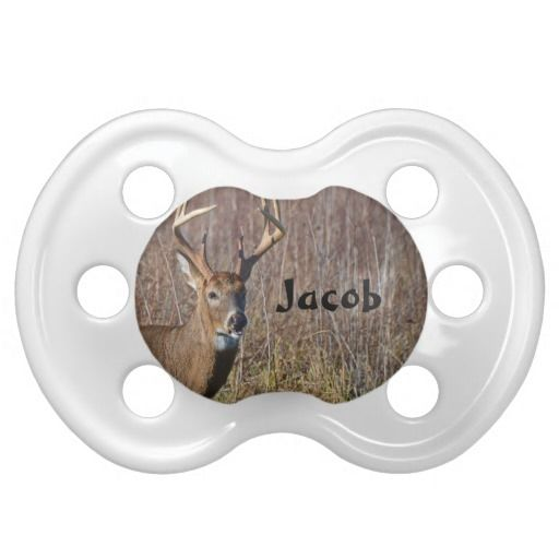 Personalized Babies Animal 8 Point Whitetail Buck Baby Pacifier
