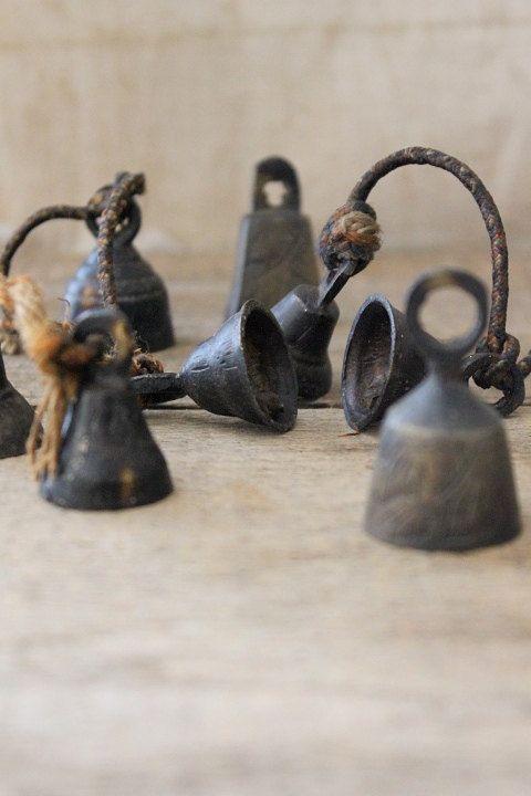 vintage + antique etched bells