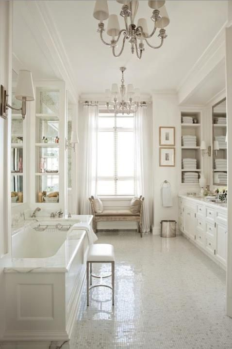 All white bathroom.