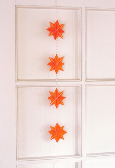 Origami paper stars....How About Orange