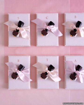Pink Stamp Favors