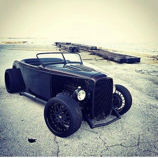 32' ford, black on black