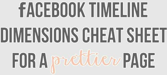 facebook dimensions cheat sheet . blog better - Shrimp Salad Circus