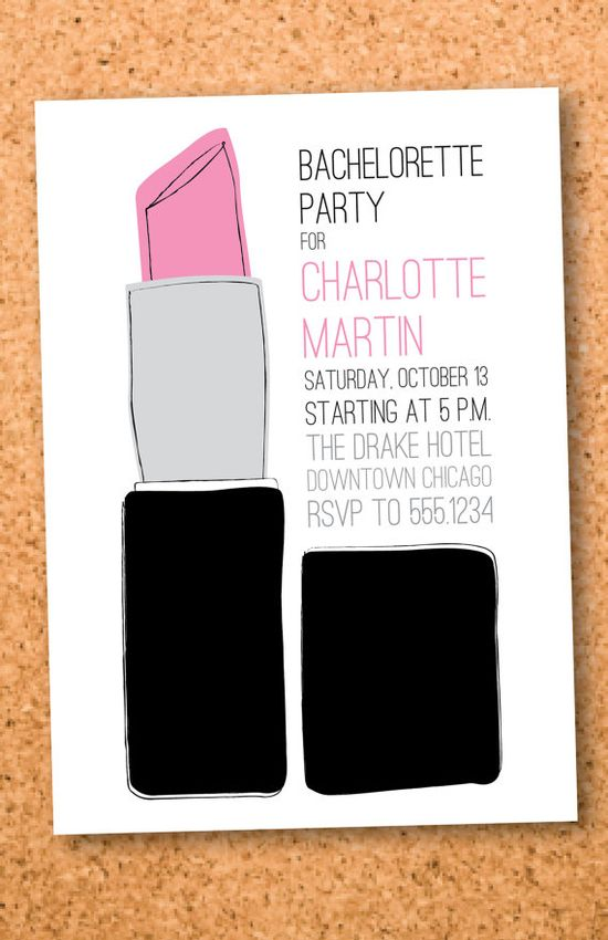 printable bachelorette party invitation
