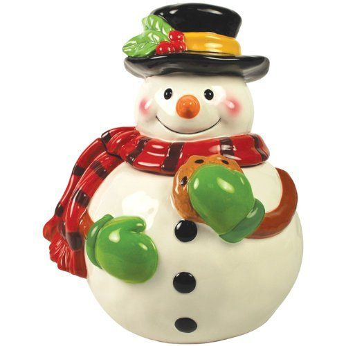 Westland Giftware Kookie Jars Snowman 10-1/2-Inch Cookie Jar by Westland Giftware. $44.00. Cute kitchen accessory. High quality. Wonderful gift item. Fun kitchen accent. Not microwave or dishwasher safe. This adorable ceramic cookie jar features a festive snowman ready to enjoy his own cookie with you.