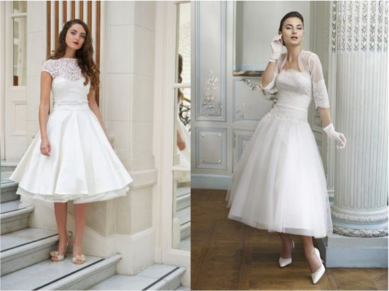Wedding Dress Trends for 2013 short with a touch of retro