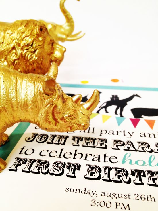 animal parade first birthday party
