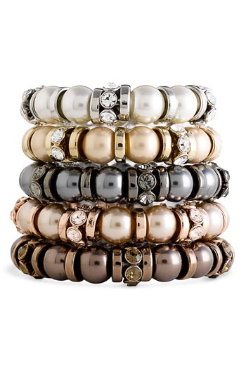 Givenchy 'Aqua' Glass Pearl Stretch Bracelet available at Nordstrom...Absolutely Gorgeous