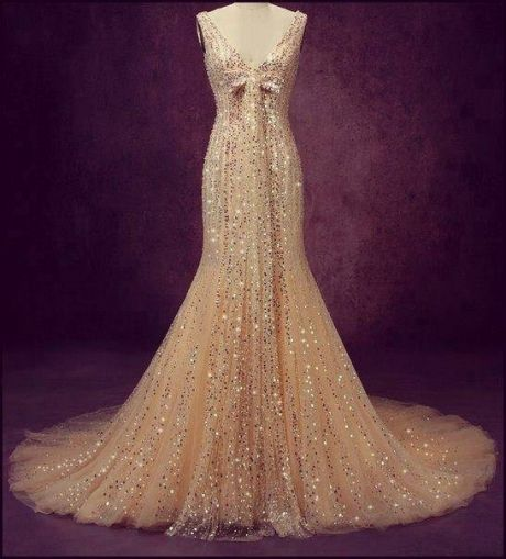Beautiful crystal sequin wedding dress - Chic Dresses and beautiful Skirts