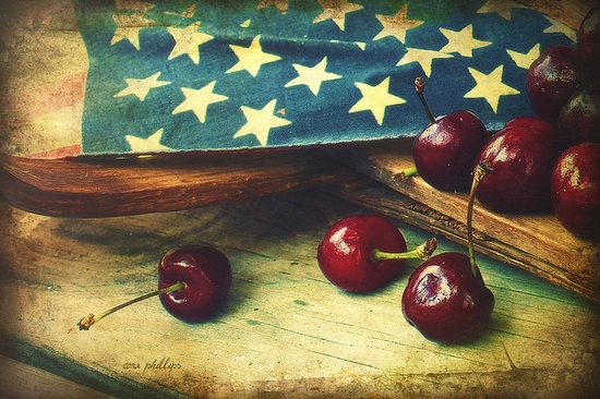 cherries and stars
