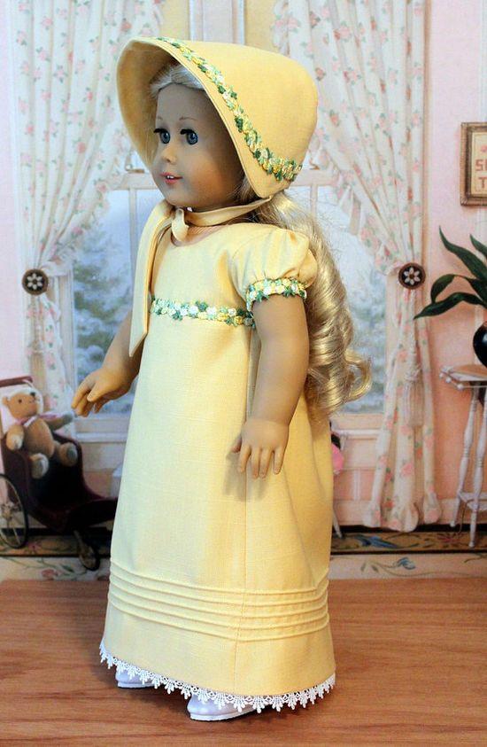 Regency Dress Bonnet and Pantalettes for Caroline by BabiesArtUs,