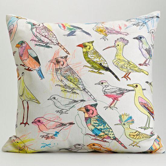 Picturebook Johannesburg Garden Birds Cushion Cover.     (via lisa stubbs)